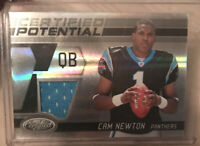 CAM NEWTON 2011 Panini Certified POTENTIAL Rookie JERSEY RC 14/250!