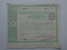 "stock certificate - 1950 Barclays Bank Ltd - ""B"" stock #28479"