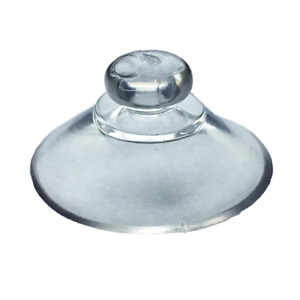 10 x 20mm Round Button Suction Cups-Window Suckers Clear PVC Plastic/Rubber Stud