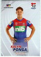 ✺New✺ 2021 NEWCASTLE KNIGHTS NRL Card KALYN PONGA - #21 of 32