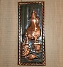 Vintage Copper Relief Signed Wall Art, Made in Holland, MCM Wall Decor