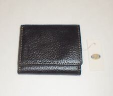NEW FOSSIL CAMDEN BLACK LEATHER TRAVELER+CLEAR ID POCKET,TRIFOLD MENS WALLET