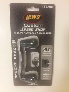 New Lew's Custom Speed Shop - Aluminum Handle Kit 95mm Handle BLACK CSBAHB