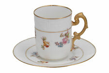 More details for limoges jean pouyat coffee cup & saucer french porcelain