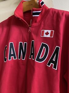 Northern Vibe Vancouver Canada Full Zip Jacket Men's L RED CANADA