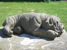 Stone Boxer Dog Statue