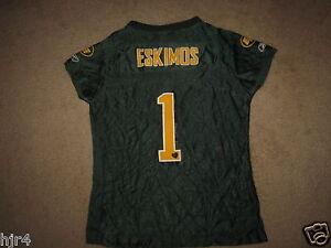 Edmonton Eskimos CFL Football Jersey Youth Girls M 10-12 medium