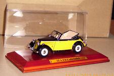 IFA F8 Cabriolet Cabrio schwarz/gelb 1:43 Atlas Originalgetreu  Neuwertig