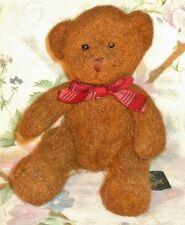 "Unique Russ Berrie 6.5"" Plush Bear Cameron Reddish Brown Mohair Like Fur Mint"