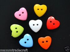 20pcs assorted nylon heart buttons 15mm ideal for kids buy 2 get 1 free