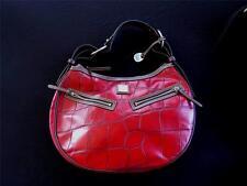 "Vintage 607ms Cuir Rouge DOONEY & BOURKE sac pochette 40.6cml x 27.9cmh x 3"""" W"