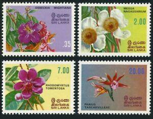 Sri Lanka 628-631,631a hinged. Michel 576-579,Bl.18.Flowers of Sri Lanka 1982