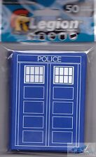 50 LEGION SUPPLIES POLICE BOX DECK PROTECTOR CARD SLEEVES FOR MTG POKEMON