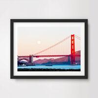 SAN FRANCISCO ART PRINT Poster Wall Picture USA Landscape Golden Gate Bridge