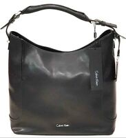 Calvin Klein Borsa Shopping Chrissy Hobo Bag Vera Pelle Colore Steel Grey
