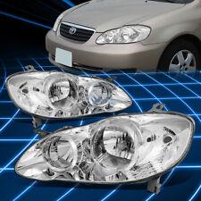 Chrome Housing Clear Side Corner Headlight for 2003-2008 Toyota Corolla Sedan