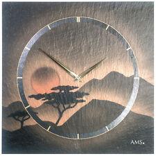Ams 47 Wall Clock Quartz Watch Naturschieferuhr Airbrush Design Office