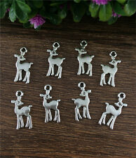 Wholesale 16pcs Tibetan silver deer Pendant beaded Jewelry Findings DIY