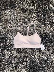 NWT Lululemon Flow Y Bra In Feathered Pink! Size 4!