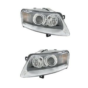 For Audi A6 Quattro Set of Left & Right Headlight Assemblies OEM Hella