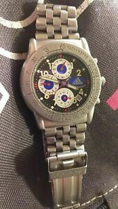 RARE ADIDAS ORIGINALS Tachimeter Watch 10AM W.R 2865263 Chronograph Watch Steel
