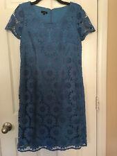 Womans Talbots Blue lace Dress - Size 8