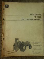 John Deere No. 2 and No. 4 Forklift Parts Catalog PC-1322