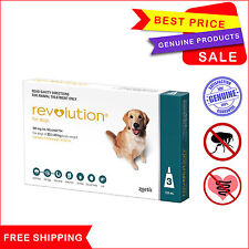 REVOLUTION for Dogs flea and heartworm treatment 20.1 to 40 Kg 3 Pipettes Teal