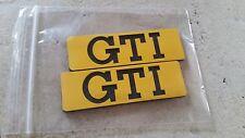 VW Golf 2 Seitenembleme Zierleisten GTI Tuning gelb Fire Edition Emblem