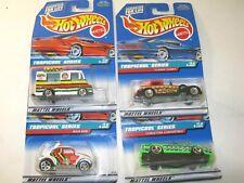 Tropicool Series Complete Series Set Hot Wheels Die Cast Cars - Lot of 4