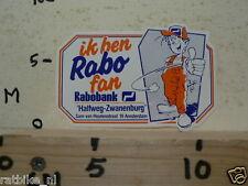 STICKER,DECAL IK BEN RABO FAN RABOBANK HALFWEG-ZWANENBURG