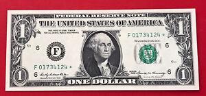 Wow STAR NOTE 1969 $1 DOLLAR BILL ( ATLANTA ) UNCIRCULATED