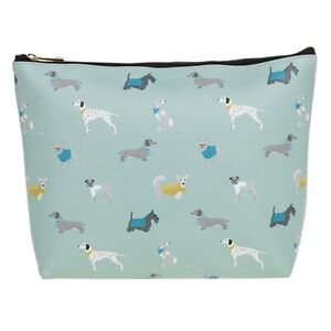 Peony Dog Large Zipped Cosmetic Bag , Pouch or Pencil Case