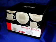 Alessi Set of 2 Coffee Cups & Saucers Modern Porcelain La Belle Tavola BNIB Gift