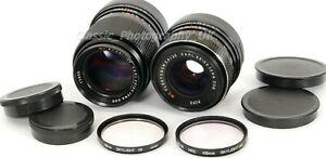 Carl ZEISS Flektogon 35mm F2.4 & Sonnar 135mm Lenses & Caps EXCELLENT Condition!