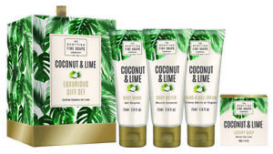 Scottish Fine Soaps Coconut & Lime Luxurious Gift Set 4 pieces