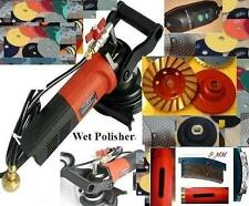 Wet Variable Speed Polisher Cup Core Drill Bit Pad Stone Concrete Travertine