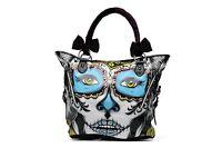 Iron Fist Large Black Lady Killers Handbag (Goth, Skull)