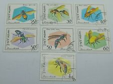 Lot of 7 VIETNAM stamps  INSECTS