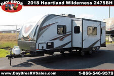 18 Heartland Wilderness 2475Bh Travel Trailer Towable Rv Camper Bunks Sleeps 8