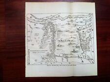 1915 China Sketch Map Du Fleuve Bleu a Tsing-Kiang Country Flooded
