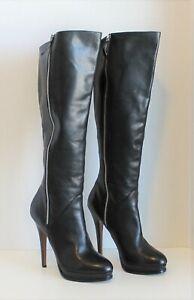 """Classiques Entier Women's Black """"Faye"""" Knee High 5"""" Heel Boots ~ Sz. 8½"""