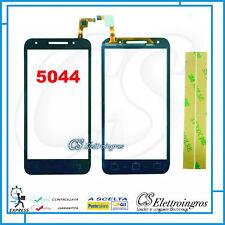 ALCATEL U5 LTE 5044 5044D 5044Y 5044x VETRO TOUCH SCREEN 5' NERO + BIADESIVO