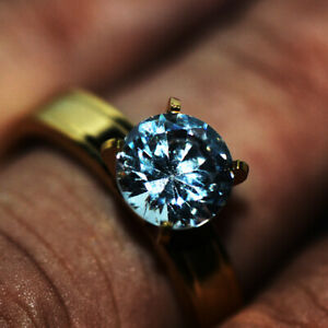 18K Gold Filled CZ Crystal Wedding Ring Bridal Engagement Rings Womens Size 8