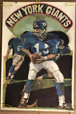 Original Vintage Poster Nfl Football Memorabilia Sports Pin Up New York Giants