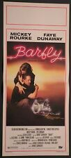 Locandina BARFLY MOSCONE DA BAR1°ED.ITAL1987 MICKEY ROURKE FAYE DUNAWAY  SIMEONI