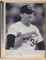 1991 Nolan Ryan Wire Photo after walking batter in 1st-->7th no Hitter followed!