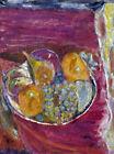 Framed canvas art giclee print grapes Les raisins