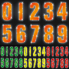 "7"" Hi Vis Wheelie Bin House Numbers Self Adhesive Stickers WHEELY STICKER STICKY"