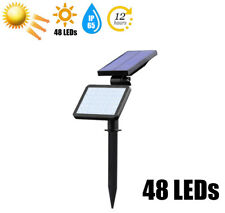 Solar Power 48 LED Spotlight Landscape Lights Outdoor Garden Pathway Lamp 960LM